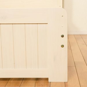 ベッド 木製 高さ2段調節 セミダブル 高さ2段調節 コンセント付 ( ベット フレーム 高さ 調節 調整 棚 収納 付き )|colorfulbox|08