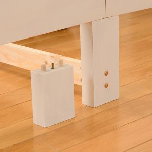 ベッド 木製 高さ2段調節 セミダブル 高さ2段調節 コンセント付 ( ベット フレーム 高さ 調節 調整 棚 収納 付き )|colorfulbox|09