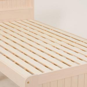 ベッド 木製 高さ2段調節 セミダブル 高さ2段調節 コンセント付 ( ベット フレーム 高さ 調節 調整 棚 収納 付き )|colorfulbox|10