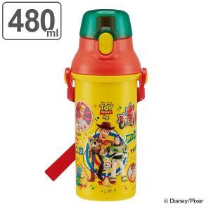 水筒 直飲み プラワンタッチボトル トイストーリー4 480ml キャラクター 子供 ( 軽量 幼稚園 保育園 食洗機対応 プラスチック トイストーリー 子供用水筒 )|colorfulbox