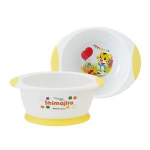 スプーンが沿う丸い角で高さがあるので、食べ物が手前に集まりやすく食べやすい茶碗です。カラフルなしまじ...