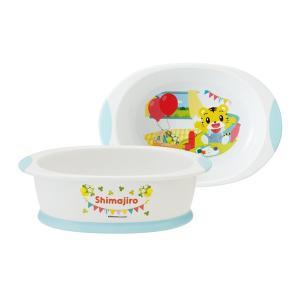 スプーンが沿う丸い角で高さがあるので、食べ物が手前に集まりやすく食べやすい小鉢です。カラフルなしまじ...