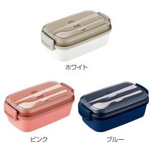 お弁当箱 1段 ランタス 580ml 女子 ランチボックス ( カトラリー付 レンジ対応 食洗機対応 箸&スプーン付 弁当箱 )|colorfulbox|02