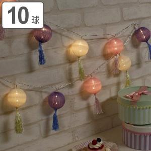 ガーランド ライト LEDスイッチライト コットンボール タッセル 10球 ( デコレーション イルミネーション LED )|colorfulbox