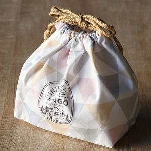 お弁当袋 HANGO ランチ巾着 弁当 ( 巾着 巾着袋 給食袋 弁当巾着 ランチバッグ アウトドア 弁当袋 ) colorfulbox