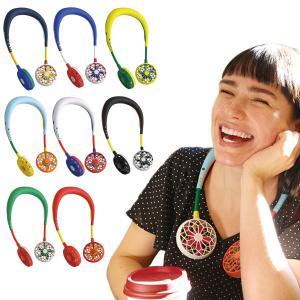 扇風機 携帯 首掛け ダブルファン Wfan マルチカラー 携帯扇風機 充電式 暑さ対策 熱中症対策 ( ハンディ USB アウトドア )|colorfulbox