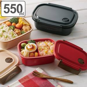 お弁当箱 1段 2点ロック 軽量 ラク軽弁当箱 M 550ml ランチボックス ( 弁当箱 レンジ対応 食洗機対応 冷凍 保存容器 おすすめ )|colorfulbox