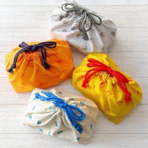 弁当袋 巾着袋 レトロ文具 ( お弁当袋 お弁当包み おべんとう袋 ランチ 巾着 日本製 )|colorfulbox