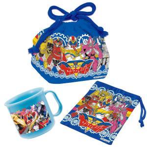 機界戦隊ゼンカイジャー オリジナル3点セット コップ コップ袋 弁当袋 ( ゼンカイジャー プラコップ 給食袋 巾着袋 お弁当袋 コップ入れ ) colorfulbox