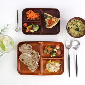 ランチ皿 27cm SEE 仕切皿 ワンプレート プラスチック 食器 皿 日本製 おしゃれ 同色5枚セット ( 電子レンジ対応 食洗機対応 木製風 ランチプレート 木目調 ) colorfulbox 11