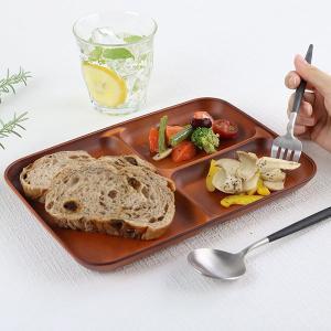 ランチ皿 27cm SEE 仕切皿 ワンプレート プラスチック 食器 皿 日本製 おしゃれ 同色5枚セット ( 電子レンジ対応 食洗機対応 木製風 ランチプレート 木目調 ) colorfulbox 16