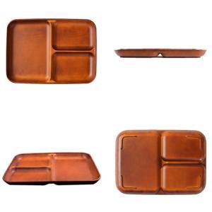 ランチ皿 27cm SEE 仕切皿 ワンプレート プラスチック 食器 皿 日本製 おしゃれ 同色5枚セット ( 電子レンジ対応 食洗機対応 木製風 ランチプレート 木目調 ) colorfulbox 03