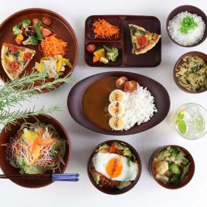 ランチ皿 27cm SEE 仕切皿 ワンプレート プラスチック 食器 皿 日本製 おしゃれ 同色5枚セット ( 電子レンジ対応 食洗機対応 木製風 ランチプレート 木目調 ) colorfulbox 08