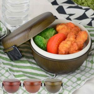 お弁当箱 ランチボウル Woody 樹脂製 木製風 軽くて割れにくい レンジ対応 食洗機対応 ( どんぶり弁当箱 どんぶり型 ランチボックス )|colorfulbox