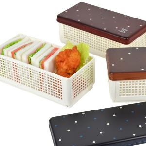 お弁当箱 サンドイッチケース Have a Lunch ドット ランチベーカリー 折りたたみ式 ( ランチボックス おにぎり おむすび )|colorfulbox