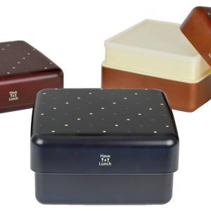 行楽弁当箱 2段 Have a Lunch ドット ピクニックランチボックス 2800ml ( お弁当箱 大容量 運動会 日本製 )|colorfulbox