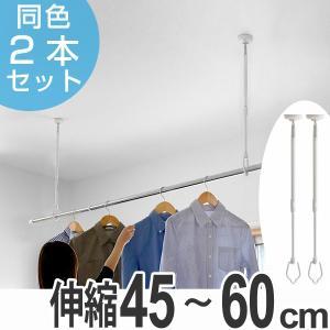 室内物干し 天井吊り下げ 吊下げ型室内物干 長さ45cm〜60cm 伸縮 2本セット ( 部屋干し ...