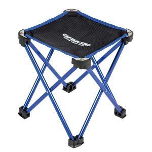 折りたたみ椅子 トレッカー マイクロイージーチェア ブルー 携帯用 ( キャプテンスタッグ 折りたたみイス アウトドア )|colorfulbox