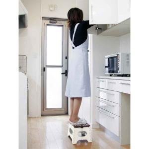 踏み台 セノビー 高さ22cm 天板29cm ホワイト ( 折りたたみ 折り畳み 脚立 セノ・ビー ) colorfulbox 03