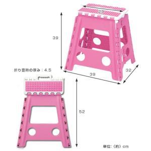 踏み台 セノビー ラバーグリップ 高さ39cm 天板29cm のっぽ君 ( 折りたたみ 折り畳み ステップ台 )|colorfulbox|04