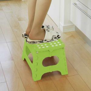 踏み台 セノビー 高さ22cm 天板29cm グリーン ( 折りたたみ 折り畳み ステップ台 )|colorfulbox