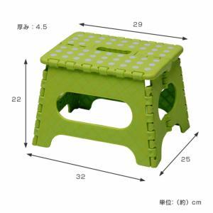 踏み台 セノビー 高さ22cm 天板29cm グリーン ( 折りたたみ 折り畳み ステップ台 )|colorfulbox|02