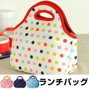 ランチバッグ トートバッグ tone ドット ファスナー付き ( お弁当バッグ お弁当袋 手提げバッグ )|新着A||colorfulbox