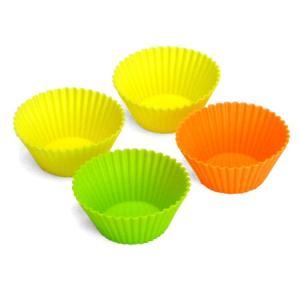 シリコンおかずケース Mサイズ 4個入( お弁当グッズ おかずカップ シリコンカップ ) colorfulbox
