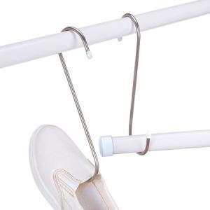 ●丈夫で錆びにくいステンレス製のS字型フックです。 ●耐荷重は25kgです。 ●竿と竿の連結に便利で...