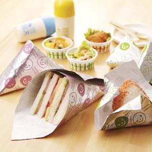 おにぎりシート サンドイッチシート スマイル 12枚入り ( 包み紙 お弁当カップ 包装紙 )|colorfulbox