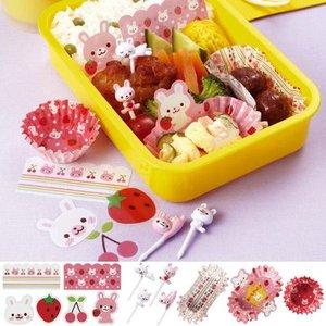 おべんとうキット うさぎ バラン&ピック&お弁当カップ ( おかずカップ お弁当グッズ 子供用 )|colorfulbox