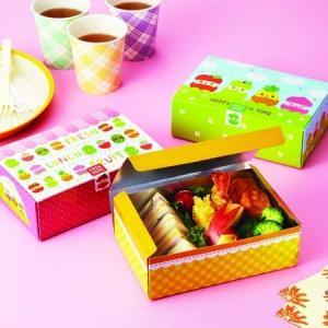 お弁当箱 ランチボックス ひょっこりフルーツ 使い捨て おかず ( 紙パック 折り箱 おにぎりケース 弁当箱 )|colorfulbox