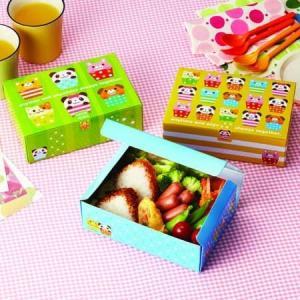 お弁当箱 ランチボックス アニマルカップ 使い捨て おかず ( 紙パック 折り箱 おにぎりケース 弁当箱 ) colorfulbox