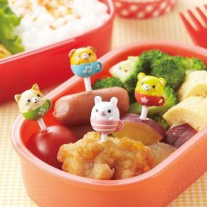 ピック ティーカップアニマルピック 8本入 お弁当グッズ ( キャラ弁 お弁当ピック ピックス )|colorfulbox