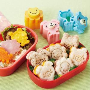抜き型セット うさくま&フラワー お弁当グッズ ( キャラ弁 デコ弁 ランチグッズ 野菜抜き型 )|colorfulbox