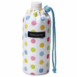 ペットボトルカバー 500ml用 カラフルドット ( ペットボトルケース ペットボトルホルダー 保温 保冷 0.5L )|colorfulbox