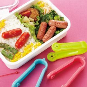 抜き型 ウインナーはんこトング ウィンナー抜き型 3種類 ( お弁当グッズ ウインナー抜き型 キャラ弁 )|colorfulbox