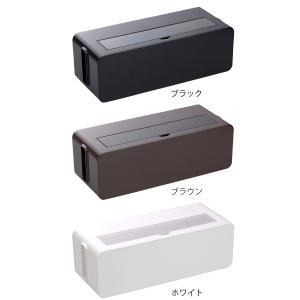 ケーブルボックス タップ 長さ37cm 対応 タップ収納 コード 収納 収納ボックス ( ケーブル収納 タップボックス コード収納 プラスチック おしゃれ 日本製 )|colorfulbox|04
