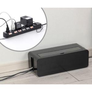 ケーブルボックス タップ 長さ37cm 対応 タップ収納 コード 収納 収納ボックス ( ケーブル収納 タップボックス コード収納 プラスチック おしゃれ 日本製 )|colorfulbox|06