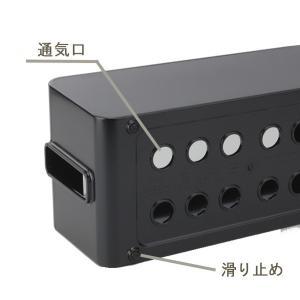 ケーブルボックス タップ 長さ37cm 対応 タップ収納 コード 収納 収納ボックス ( ケーブル収納 タップボックス コード収納 プラスチック おしゃれ 日本製 )|colorfulbox|08