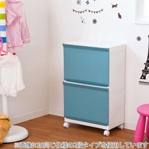 ランドリーボックス Clevan 3段 2台セット ランドリーラック 洗濯かご キャスター付 ( ランドリーバスケット ストッカー 収納ラック ) colorfulbox 07