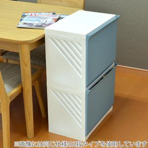 ランドリーボックス Clevan 3段 2台セット ランドリーラック 洗濯かご キャスター付 ( ランドリーバスケット ストッカー 収納ラック ) colorfulbox 08