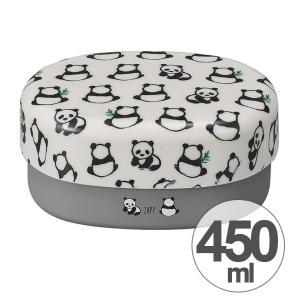 お弁当箱 2段 ZAPP 小判コンパクトランチ パンダ 450ml ( ランチボックス 食洗機対応 入れ子 )|colorfulbox