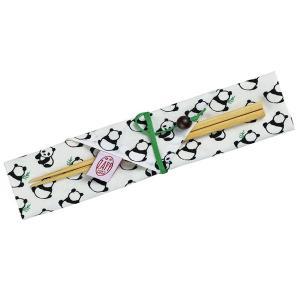 箸&箸袋セット ZAPP 箸袋 パンダ 18cm ( 箸ケース 布製 日本製 )|colorfulbox