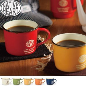 Native Heart ホーロー風 ビンテージマグカップ