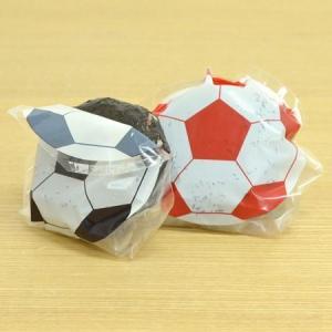 おにぎりフィルム おにぎりデコパック サッカーボール 丸型 シール付 3柄 6枚入 ( おにぎりシート おにぎりラップ おむすびフィルム )|colorfulbox