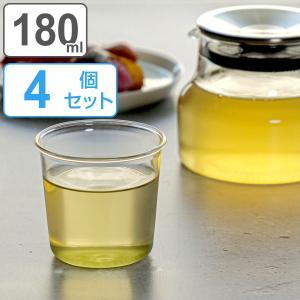 キントー KINTO Cast グリーンティーグラス 180ml 4個セット  ( コップ ティーカップ ガラス製  )|colorfulbox