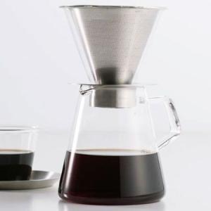 ●ステンレスとガラスの組み合わせで輝きをまとった宝石のようなカタチの「CARATシリーズ」のコーヒー...