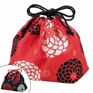 お弁当袋 HAKOYA 百華 巾着袋 ( 和柄 和モダン 菊 )|colorfulbox