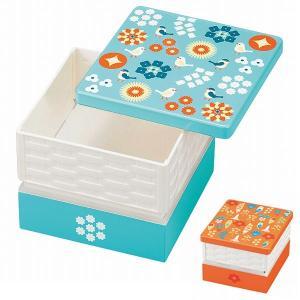 お弁当箱 15.0バスケットオードブル重 HAKOYA KOTORITACHI 2〜3人用 小 ( ランチボックス 和風 レトロ )|colorfulbox